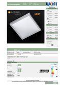 Data sheet WOFI ceiling light MILA