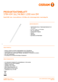 Spécifications Osram SubstiTube Value 17W 1200mm 865 EM T8