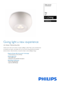 Data sheet Philips myLiving ceiling light Nio white