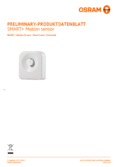 Spécifications Osram Smart+ Motion Sensor
