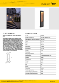 datenblatt SLV FLATT POLE 65 FL 30004000K IP65 Outdoor LED-Wegeleuchte anthrazitbraun