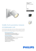 Data sheet Philips hue Runner LED 1 Spot extension white