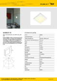Data sheet SLV SENSER LED AUFBAU PANEL square white 10W