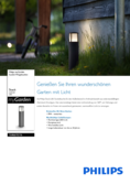 Data sheet Philips myGarden outdoor light Stock 6W