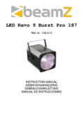 Instruction manual BeamZ Revo 9 Burst Pro 187 LED DMX