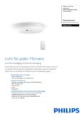 Data sheet Philips Hue Struana LED ceiling light white with dimmer switch