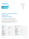 Spécifications Philips CoreProLEDspot 2.8-20W 827 GU5.3 MR16 36°