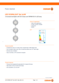 Data sheet Osram LED Downlight grey 3x3W GU10