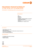 Spécifications Osram LED STAR  PAR16   80 non-dim 120° 6,9W 840 GU10