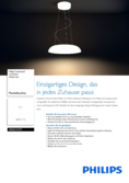 Data sheet Philips hue Amaze LED pendnant light white