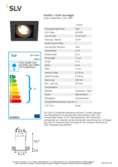 Data sheet SLV KADUX 1 GU10 Downlight square black