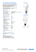 Data sheet Philips CorePro LEDbulb 12,5-100W A60 E27 840 diffuse