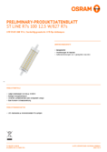 Spécifications Osram LED STAR  LINE 118  HS 100 non-dim  13W 827 R7S 118mm