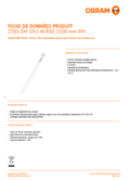 Spécifications Osram SubstiTube Star T8 1500mm 19,1W 830 EM