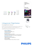Data sheet Philips Hue LED GU10 set of 3 starter set RGBW 6,5W with dimmer switch