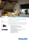Data sheet Philips hue Runner LED 1 Spot black