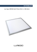 Data sheet Lumego SIRIUS LED Panel silber 62,5x62,5cm