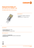 Data sheet Osram LED SST DIM PIN 32 klar 3,5W 827 G9