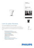 Data sheet Philips Hue LED GU10 White Ambience extension 5,5W