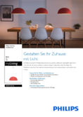 Spécifications Philips myLiving lampe suspendue Rye rouge
