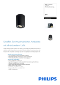 Data sheet Philips hue Pillar LED 1 Spot extension black