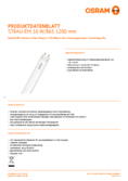 Spécifications Osram SubstiTube Advanced UO 16W 1200mm 865 EM T8