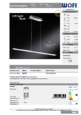 Data sheet WOFI pendant light MERCUR