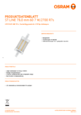 Data sheet Osram LED STAR  LINE 78  HS 60 non-dim  5,5W 827 R7S 78mm