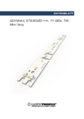 Datenblatt LED-Modul MiniDaisy, 14 LEDs, 2in1 Tunable White, 279,65x20mm