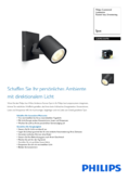 Data sheet Philips hue Runner LED 1 Spot extension black