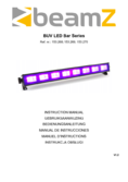 Instruction manual BeamZ BUV93 LED bar 8x3W UV