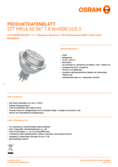 Spécifications Osram LED SST DIM MR16 50 36° 7.8W 840 GU5.3