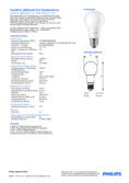 Data sheet Philips CorePro LEDbulb 5,5-40W A60 E27 827 DIM diffuse