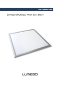 Data sheet Lumgo SIRIUS LED Panel silber 60x60cm