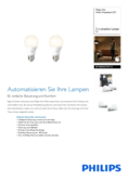 Spécifications Philips Hue White LED E27 set de 2 9,5W