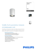 Data sheet Philips hue Pillar LED 1 Spot white