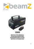 Instruction manual BeamZ S500 Plastic Smoke Machine incl. 250ml fluid