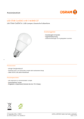 Data sheet Osram LED STAR CLA40 5W 840 matt E27