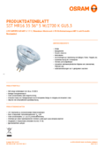 Data sheet Osram LED SST DIM MR16 35 36° 5W 827 GU5.3
