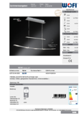 Data sheet WOFI pendant light NERO