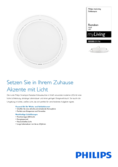Data sheet Philips myLiving Rastaban Downlight white