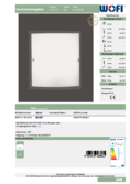 Data sheet WOFI ceiling light FIGO