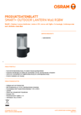 Hersteller Datenblatt Osram Smart+ Outdoor Lantern Modern Wall