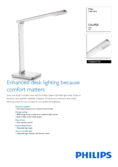 Spécifications Philips myHomeOffice lampe de table Caliper blanc