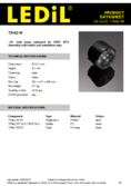 datasheet Ledil Linse 16.1mm for Cree, 46°