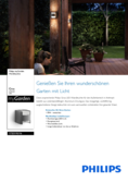 Spécifications Philips myGarden lampe murale Grass 2x4,5W anthracite
