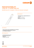 Data sheet Osram SubstiTube Advanced 7,5W 600mm 865 HF T8