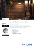 Data sheet Philips myGarden wall lamp Capricorn 600lm anthracite