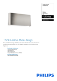 Data sheet Philips myLiving wall light Galax 21cm steel brushed