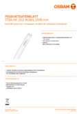 Spécifications Osram SubstiTube Advanced 21W 1500mm 865 HF T8